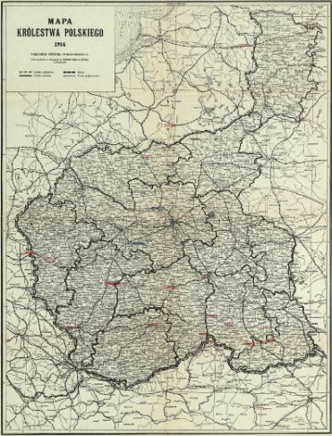Polish Genealogy Map Russian Poland 1914 Stanczyk Internet
