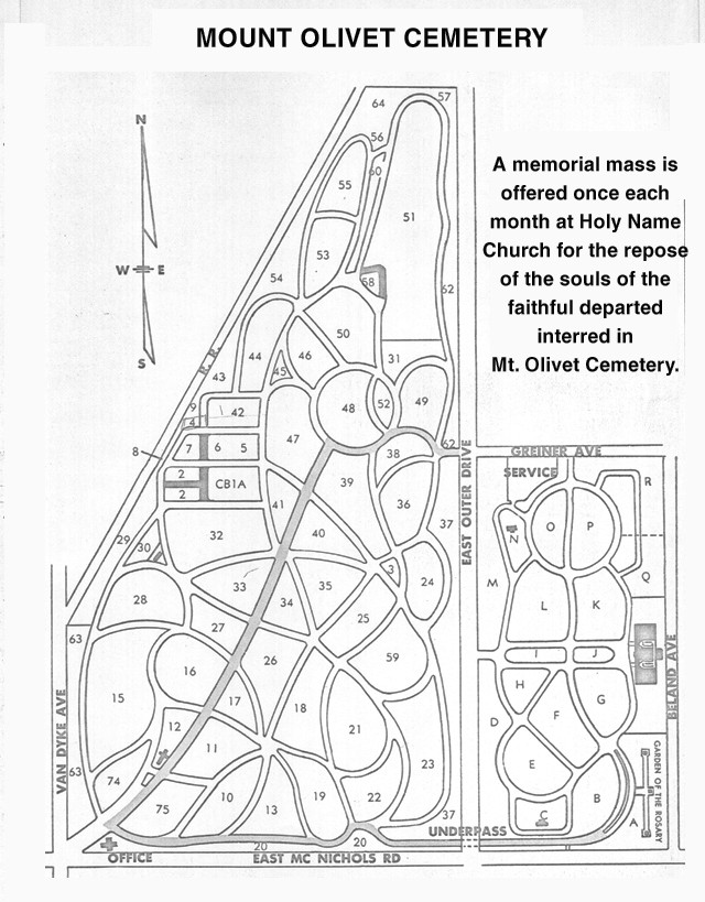 Mt Olivet Cemetery Map Mt Olivet Detroit, MI Cemetery – #Polish, #Genealogy | Stanczyk  Mt Olivet Cemetery Map