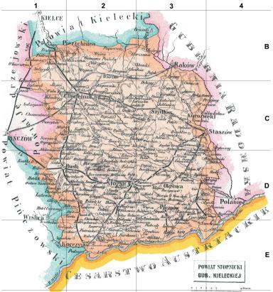 Stopnica powiat (pow.) of Kieleckie gubernia (gub.)