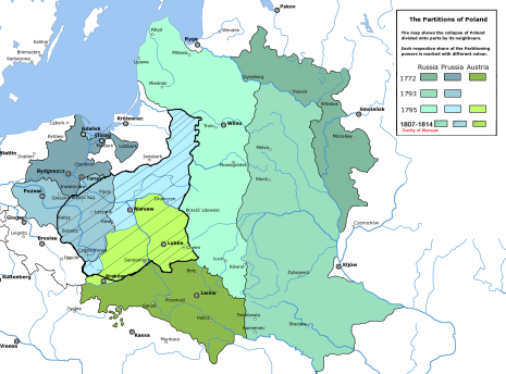 Duchy Of Warsaw Superimposed