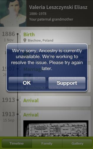 AncestryError