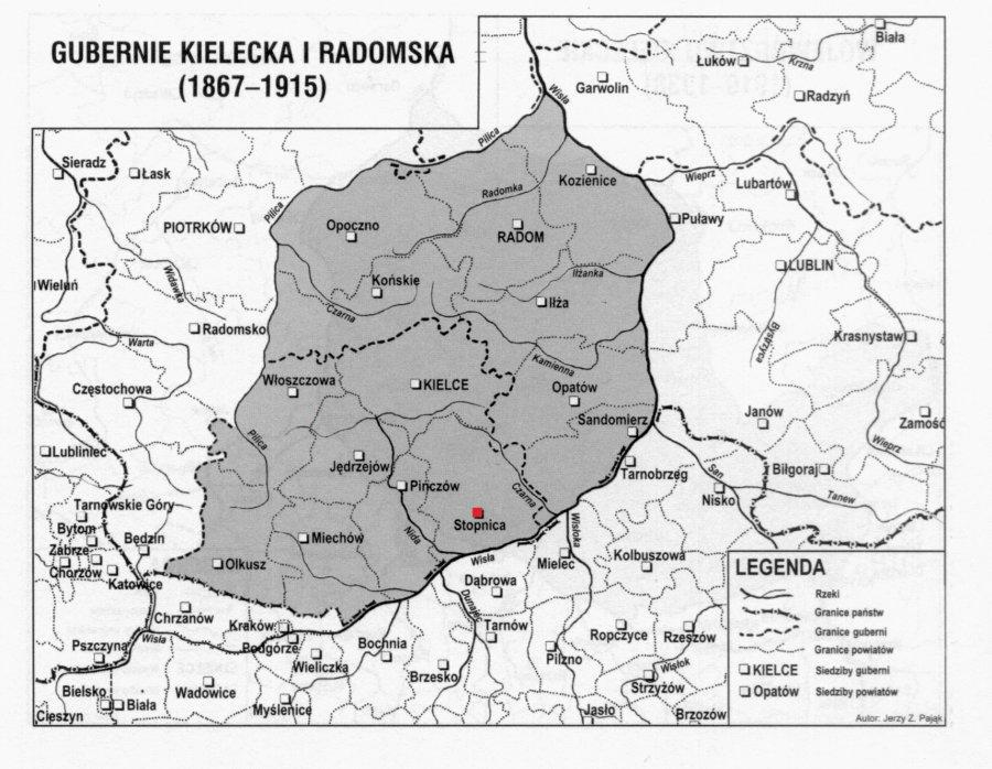 1867_1915_Gubernia_Kielce_Radom_StopnicaPow