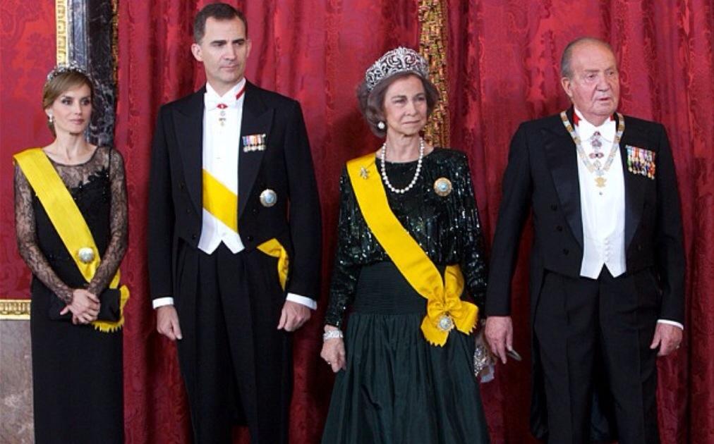 King Felipe VI & the former King Juan Carlos