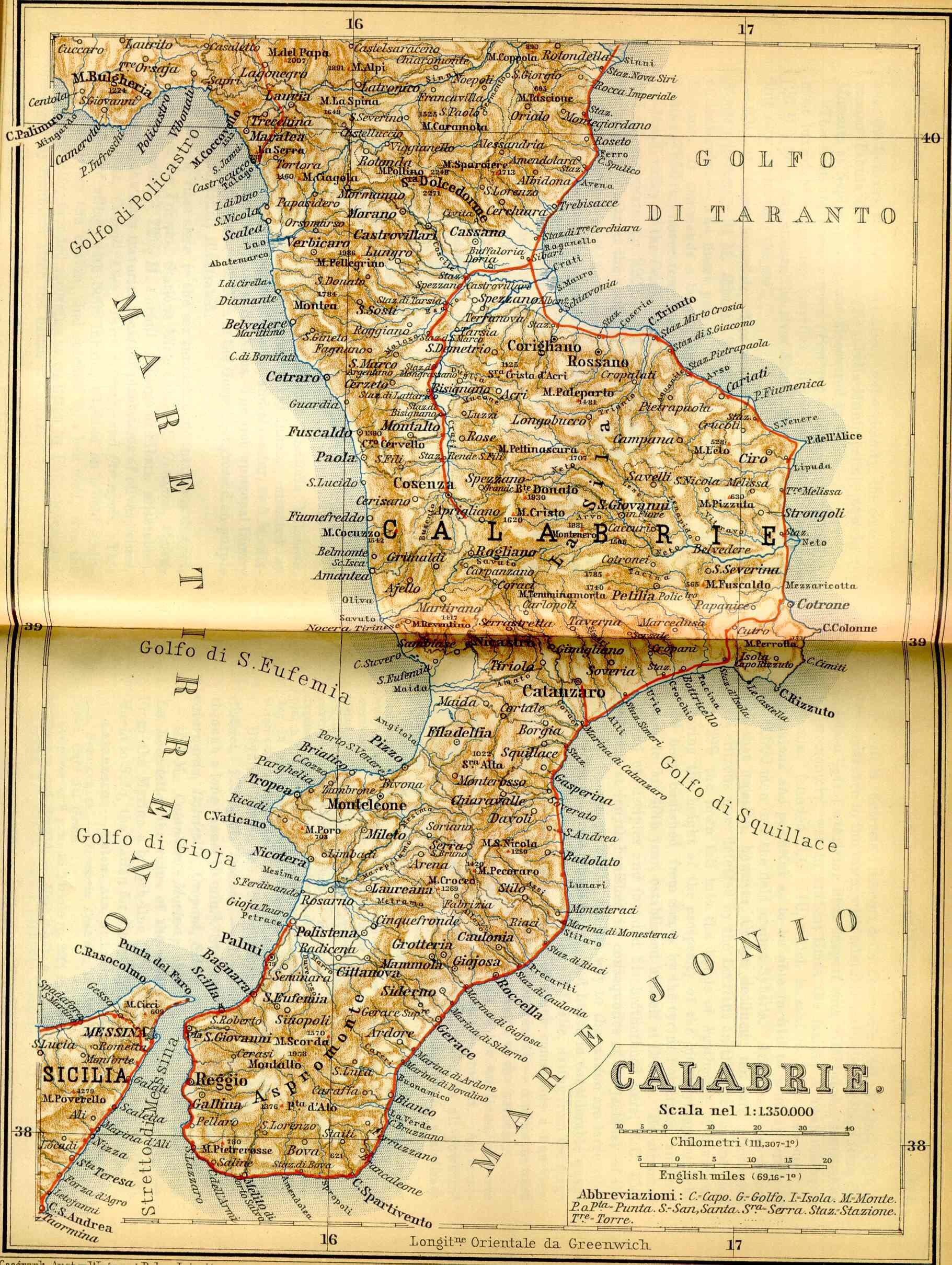 Calabria Region