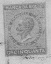 1870 Stamp in Civil Record Books for Castroregio, Italy