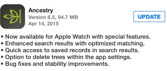 ancestry app in appstore