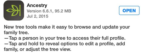 ancestry in app store