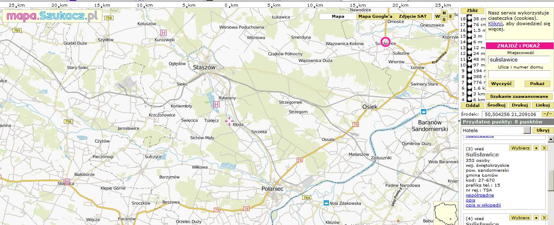Sulislawice_near_Sandomierz_map