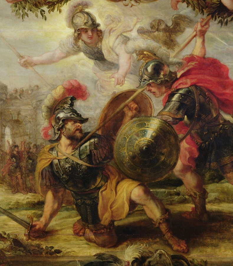 Hector's death by Achilles